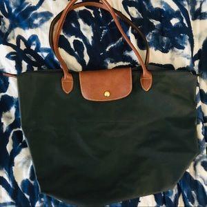 Navy Longchamp bag, large